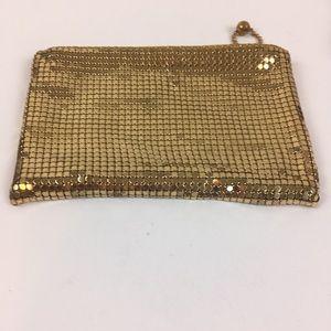 Whiting & Davis Gold Mesh Zip Up Coin/Wallet